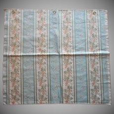 Vintage Fabric Sample High End Brocade Wallpaper Stripe Upholstery