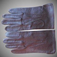 Vintage Men's Gloves Brown Leather M or Women's XL