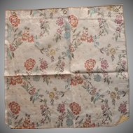Vintage Fabric Sample High End Flowered Brocade Upholstery
