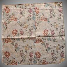 Vintage Fabric Sample High End Flowered Brocade Upholstery