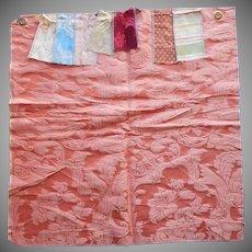 Scalamandre Vintage Fabric Sample Silk Cotton Brocade Upholstery