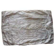 Vintage Satin Baby Cradle Coverlet Carriage Blanket Cover