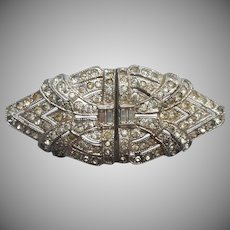 Art Deco Pin Vintage Rhinestone Made from Duette Dress Clips