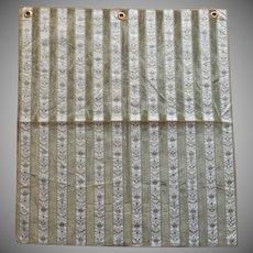 Vintage Fabric Sample High End Cut Velvet Silk Cotton Upholstery