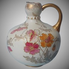 Victorian Pointons Stoke On Trent Jug Form Vase Antique English China Hand Painted