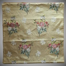 Antique Silk Brocade Olive Green 21 x 169 Inches