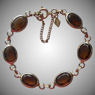 Vintage Bracelet Brown Crystal Stones Sarah Coventry