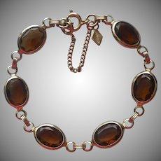 Vintage Bracelet Brown Crystal Stones Sarah Coventry
