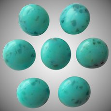 Vintge Buttons Aqua Colored Plastic Look Like Glass
