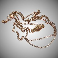 1940s Child's God Filled Chain Necklace Kiddie Kraft For Locket Or Pendant