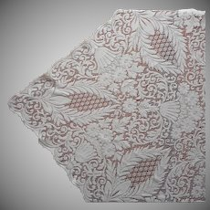Quaker Lace Tablecloth Vintage 84 x 67 TLC