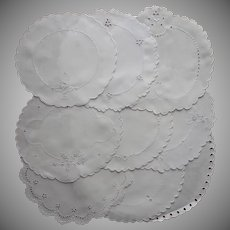 Dessert Doilies 1910s and 1920s Vintage Assorted Cutwork Linen