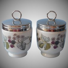 Royal Worcester Lavinia Egg Coddlers Pair King Double Vintage