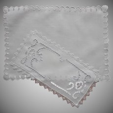 Cutwork Doilies Vintage Rectangular Lace Linen TLC
