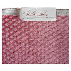 Scalamandre Vintage Fabric Sample Raspberry Cut Velour Upholstery