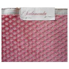 Scalamandre Vintage Fabric Sample Raspberry Cut Velour Upholstery