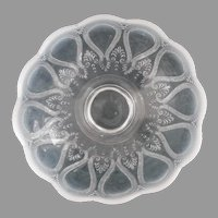 Antique Opalescent Glass Fruit Bowl Northwood Scroll With Acanthus
