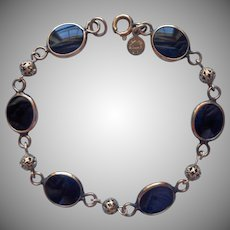 Onyx Gold Filled Vintage Bracelet Bojar