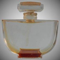 Baccarat Perfume Bottle Vintage Empty Caron Fleurs De Rocaille