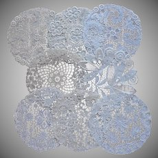Tea Plate Doilies Vintage European Chemical Lace