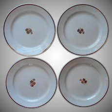 Tea Leaf Antique Ironstone 4 Plates Wilkinson England