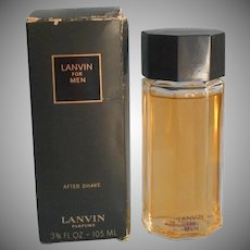 Lanvin For Men Cologne France Full Bottle Vintage Scarce Unused