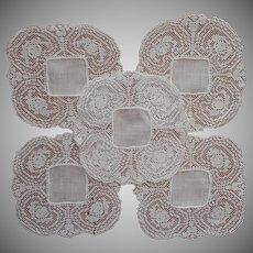1920s Doilies Vintage Linen Filet Net Lace Finger Bowl