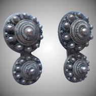 1930s Italian Canetille Dress Clips Vintage Pair
