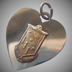 Alpha Delta Kappa Vintage Sorority Charm Gold Filled Heart