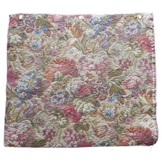 Vintage Fabric Sample 1980s Tapestry Thick Sculptured Upholstery