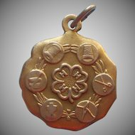 Vintage 4H Gold Filled Charm Clothing Achievement Award Sewing