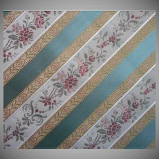 Vintage Fabric Brocade Stripe 56 x 40.5 Inches Upholstery