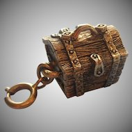 Charm Treasure Chest Vintage Opens Hinged