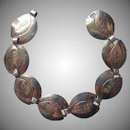 1940s Friendship Bracelet Sterling Silver Monet
