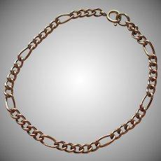 Gold Filled Charm Chain Bracelet Vintage