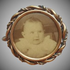 Antique Photo Pin Photograph Frame Sweet Baby