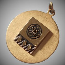 G.E. Charm General Electric Vintage Gold Filled 30 Years Service Award