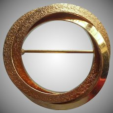 Hobe Gold Filled Circle Pin Dated 1967 Vintage