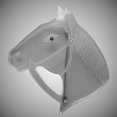 Vintage Lucite Horse Pin 1940s Carved Head