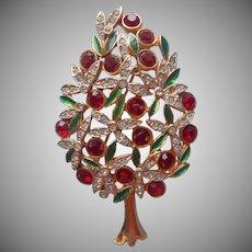 Sphinx England Christmas Tree Pin Vintage A1266 Pear Tree