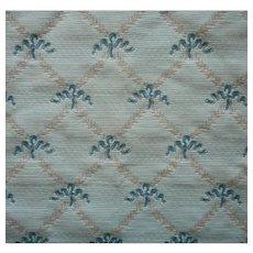 Vintage Fabric Sample Brunschwig Treillage Ribbon Green Upholstery