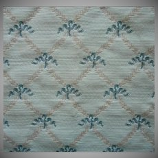 Vintage Fabric Sample Brunschwig Treillage Ribbon Green Upholstery