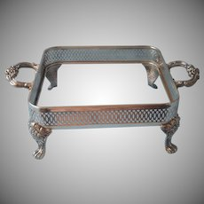 Ornate Silver Plated Frame For 8 Inch Square Baking Dish Vintage