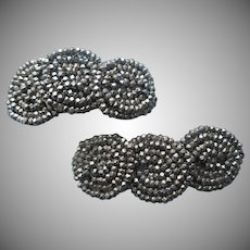 1910s Shoe Clips Cut Steel Beads Antique