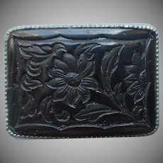 Czech Black Glass Little Pin Vintage 1920s 1920s