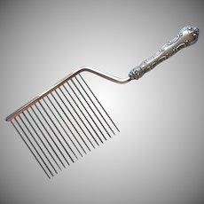 Birks Louis De France Cake Comb Cutter Breaker Vintage Silver Plated