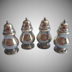 Vintage Shakers Silver Plated Set 4 Salt Pepper Oneida