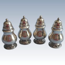 Vintage Shakers Silver Plated Set 4 Salt Pepper Oneida