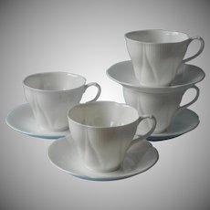 Royal Albert Morning Star 4 Cups 4 Saucers Vintage Bone China