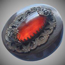 Jeweled Bakelite Vintage Button No Shank TLC